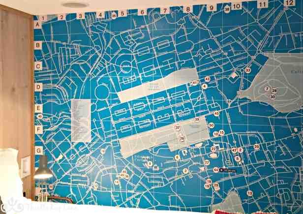 Wall map of Edinburgh