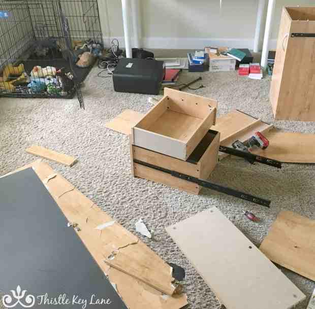 Dismantling a desk