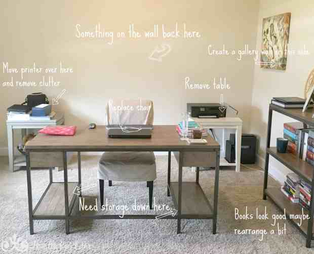 Updating and planning a home office.
