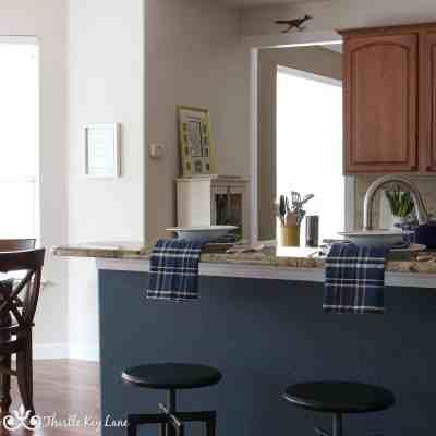 Neutral White Walls In The Kitchen