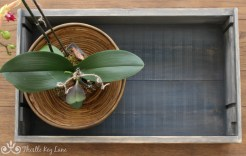 How to make and style a coffee table tray