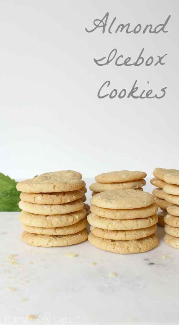 Almond Icebox Cookie Recipe | Thistle Key Lane