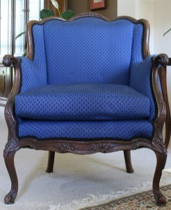 Drop Cloth Armchair Slipcover Before