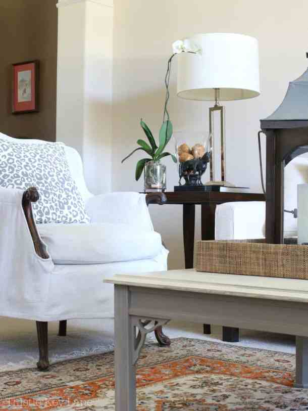 Drop Cloth Armchair Slipcover for a casual elegance
