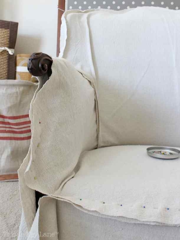 Drop Cloth Armchair Slipcover