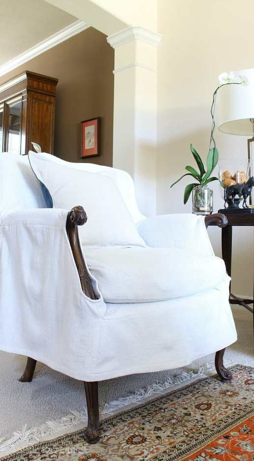 Drop Cloth Armchair Slipcover The Reveal