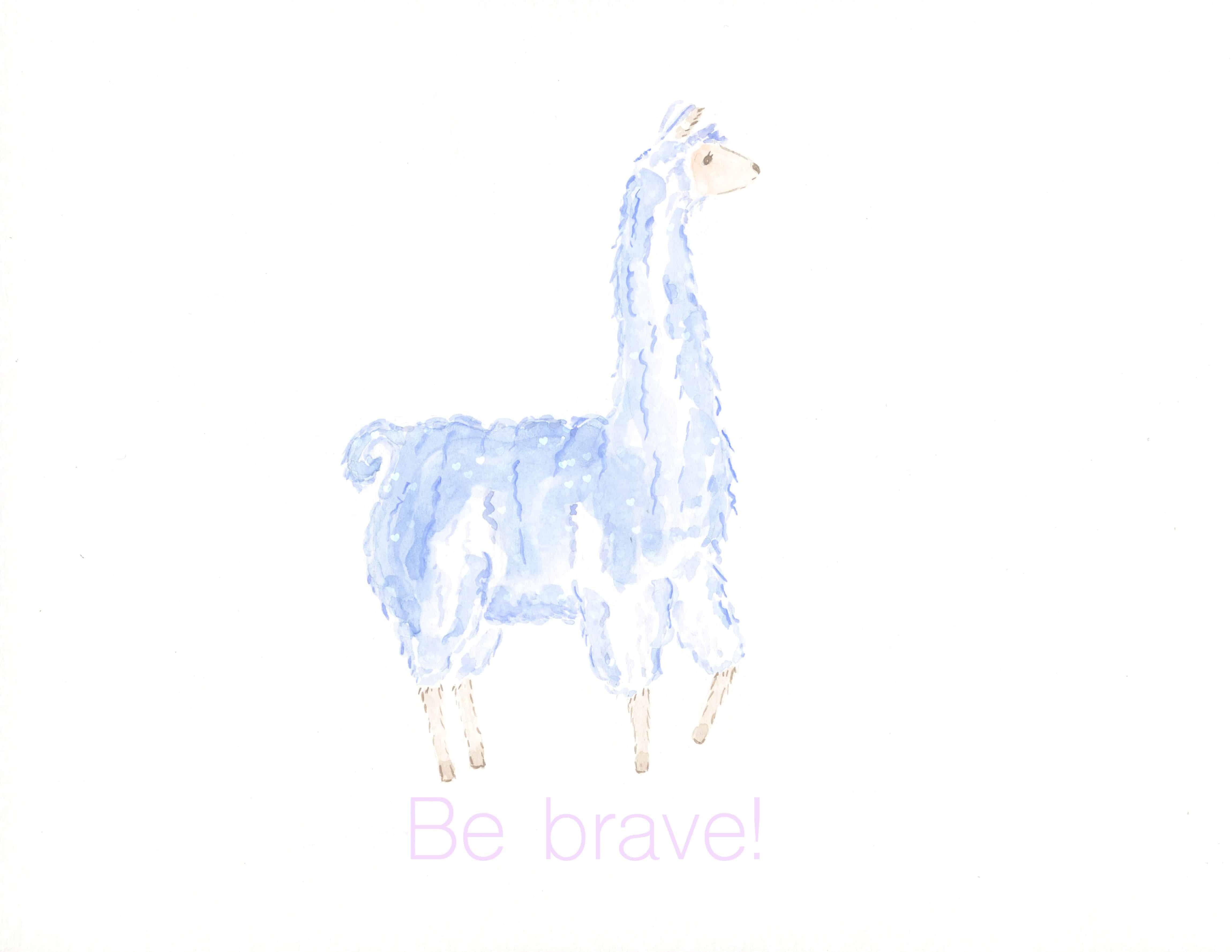 Be Brave Llama