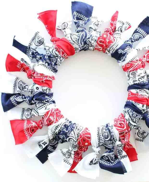 Best Red, White And Blue Bandana Wreath – Thistle Key Lane ZN36