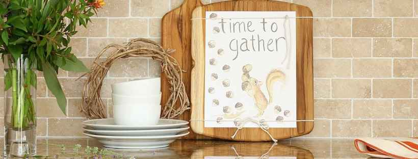 Time to gather free fall printable