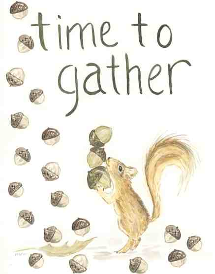 Free Fall Printable Time To Gather