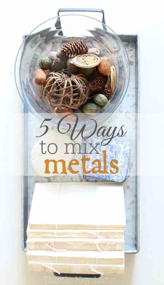 Here are 5 ways to mix metals in your decor.