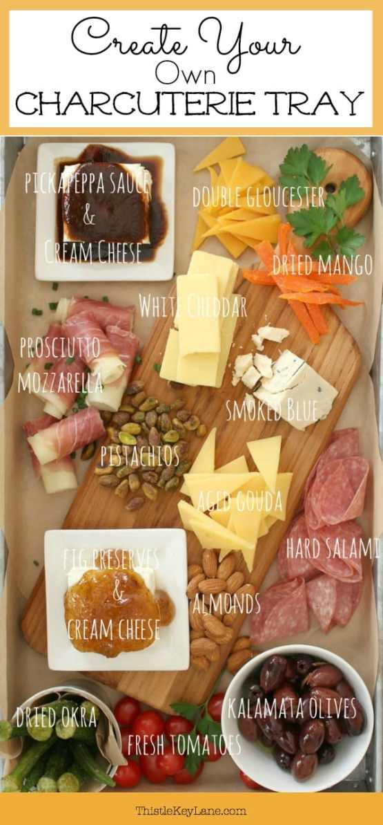 Create your own charcuterie tray, just the way you like it.