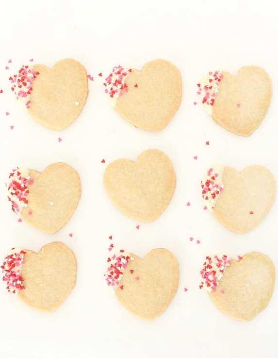 Shortbread Valentine Cookies Yum!