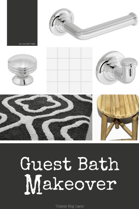 Project board for the guest bathroom.