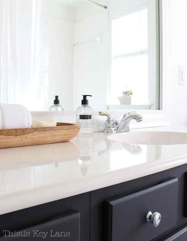 Simple accessories for the guest bath.