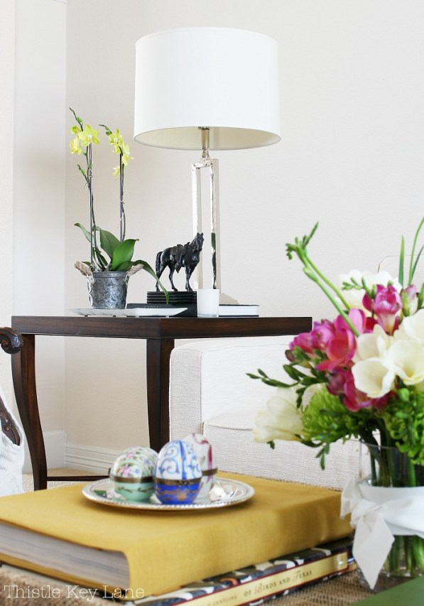 Mix flowers in with your everyday decor.