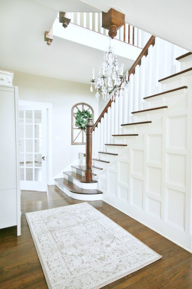 Staircase and back entry makeover from Thistlewood Farm.