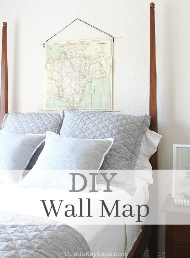 Keep this for a simple decor idea. DIY Wall Map.