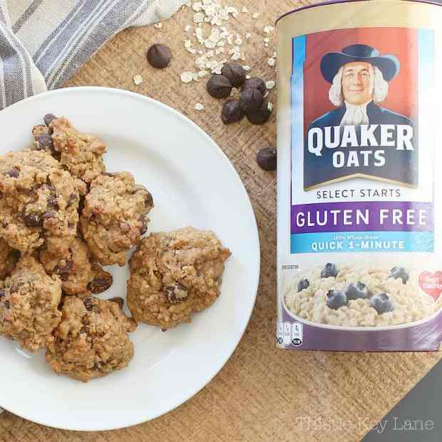 Gluten free peanut butter chocolate chip oatmeal cookies.