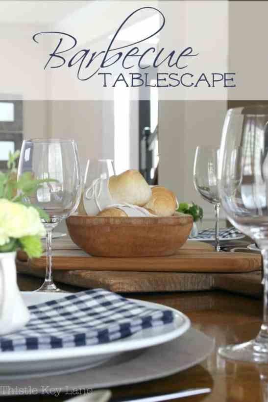 Summer barbecue tablescape ideas.