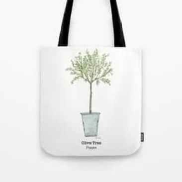 Olive tree tote bag by Thistle Key Lane.