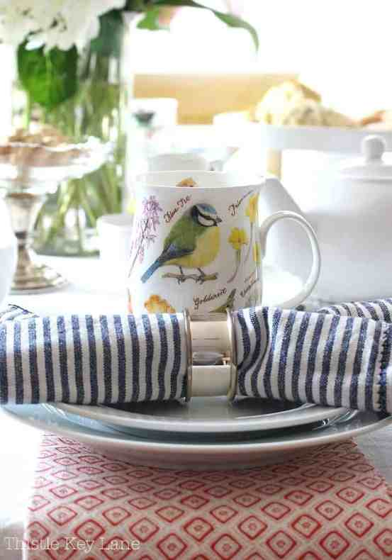 Pattern play adds some fun to the afternoon tea table.
