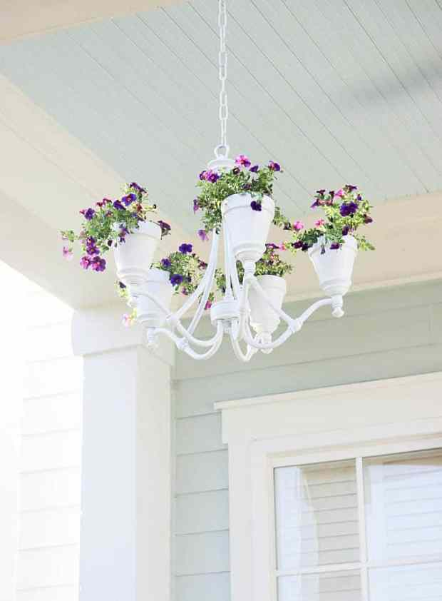 Garden chandelier from Simple Nature Decor.