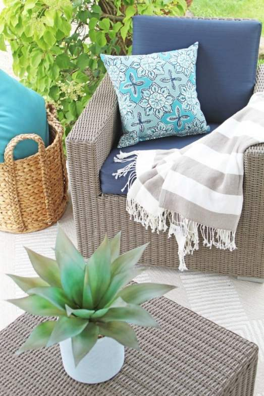 Patio makeover from A Nod To Navy.