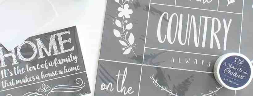 Paint and stencils! Think of the possibilities!