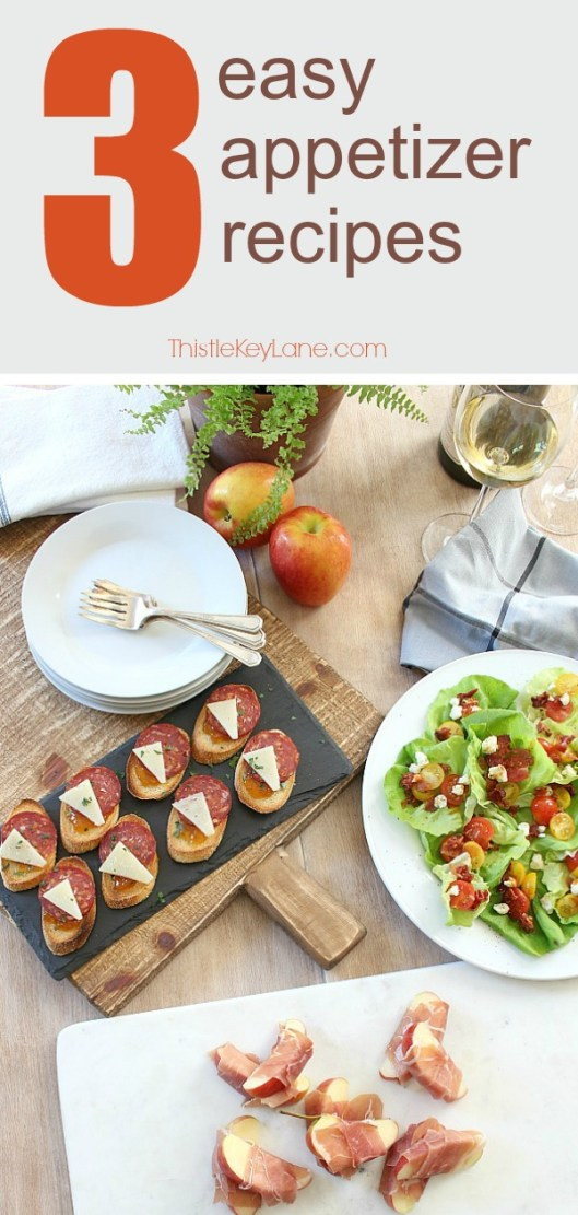 Three easy appetizer recipes for your next get together. #easyrecipes #appetizerrecipes