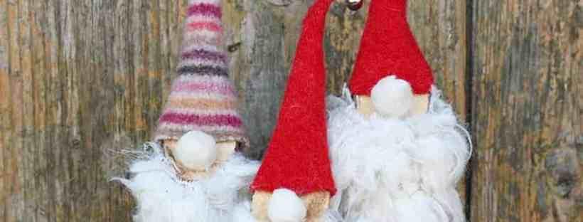 Pillar Box Blue Norwegian Christmas Gnomes