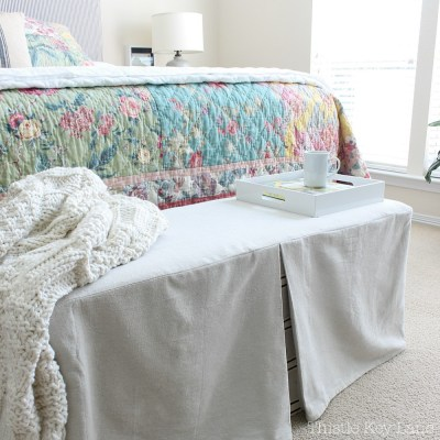 How To Make A Bench Slipcover
