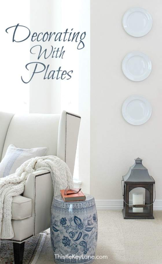 Neutral decor with plates.