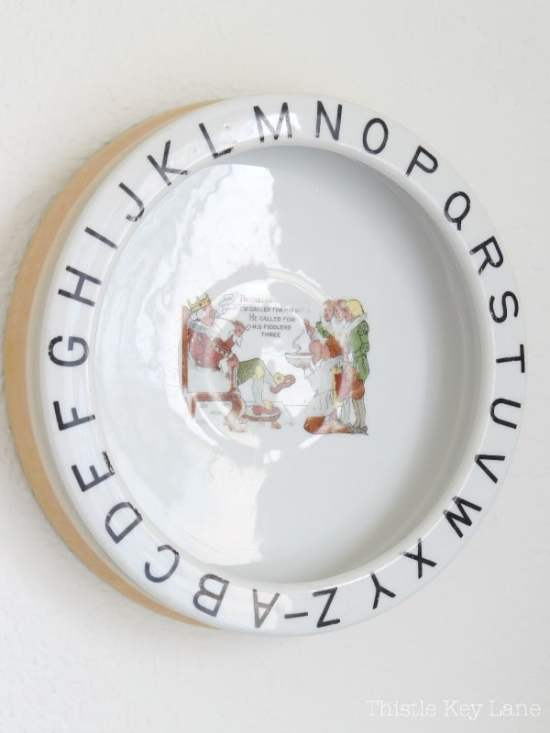 Old King Cole bowl with ABCs.