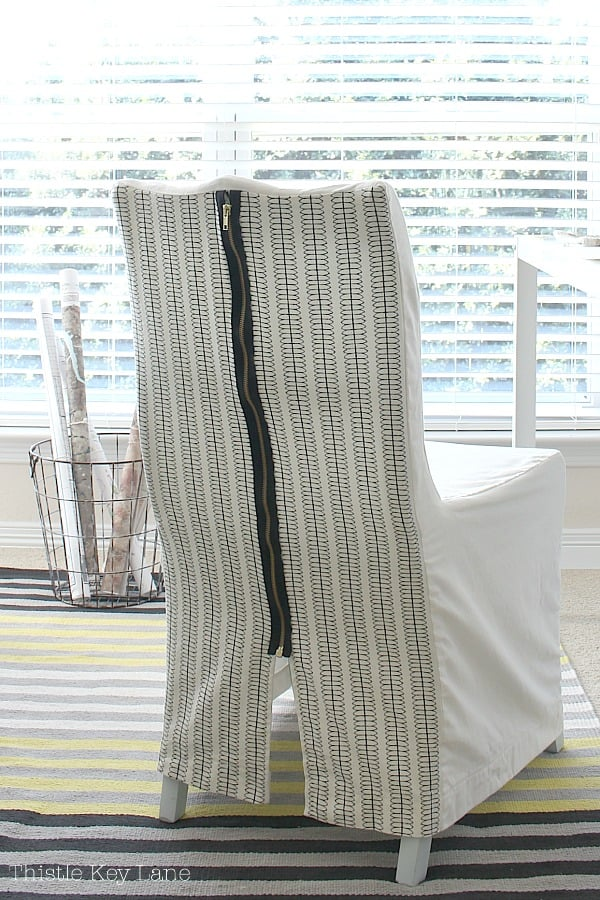 DIY slipcovers for chairs with zipper.