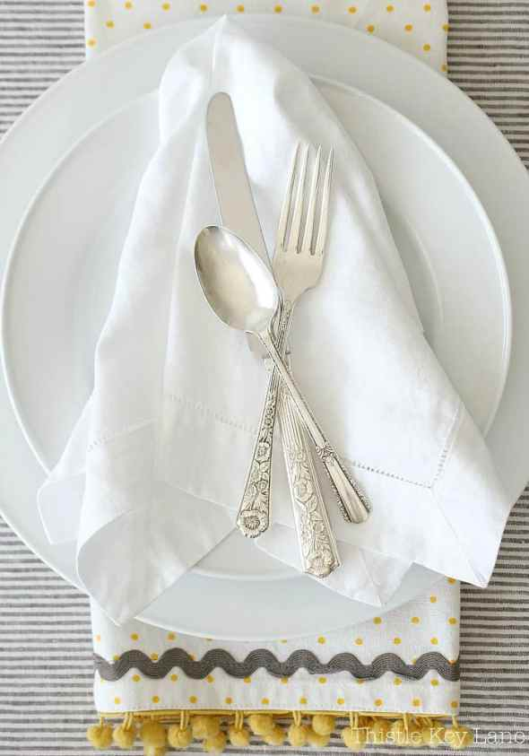 How to polish sterling silver for a casual table setting.