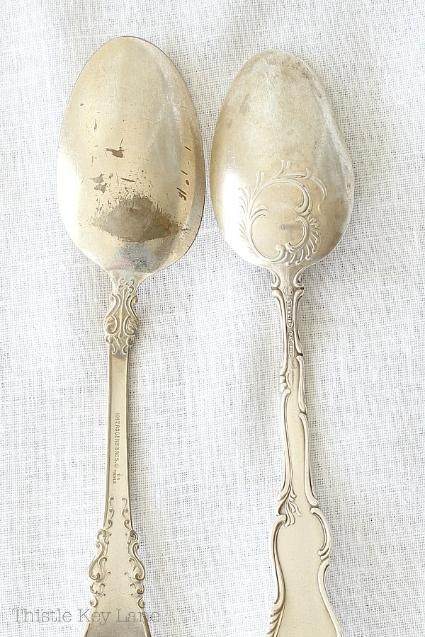 Examples of spoons - silver plate and sterling.
