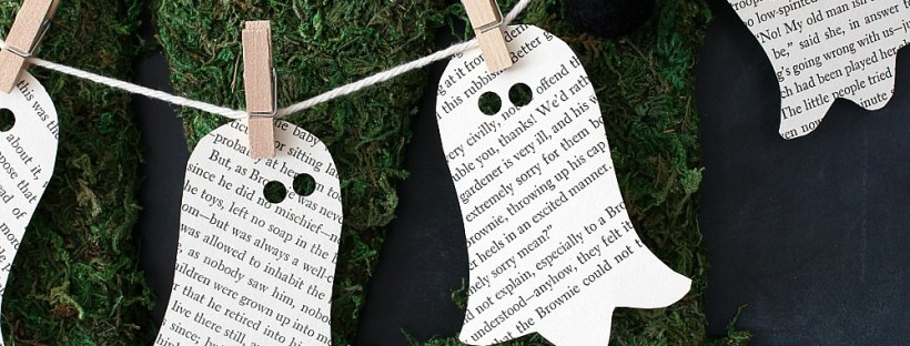 DIY Book Page Ghost Garland