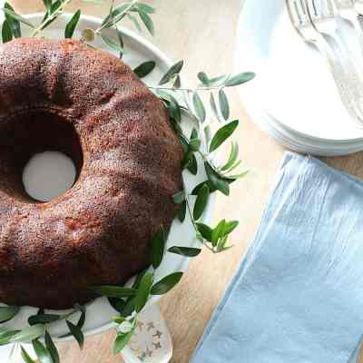 Pear Bundt Cake Recipe With Bourbon Glaze