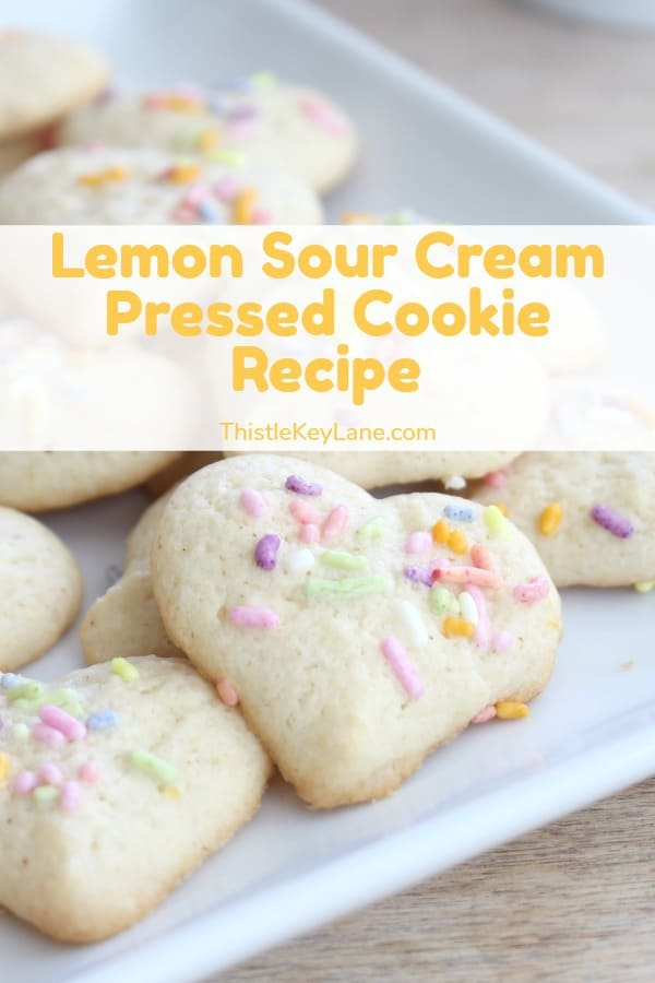 Lemon Sour Cream Pressed Cookie Recipe
