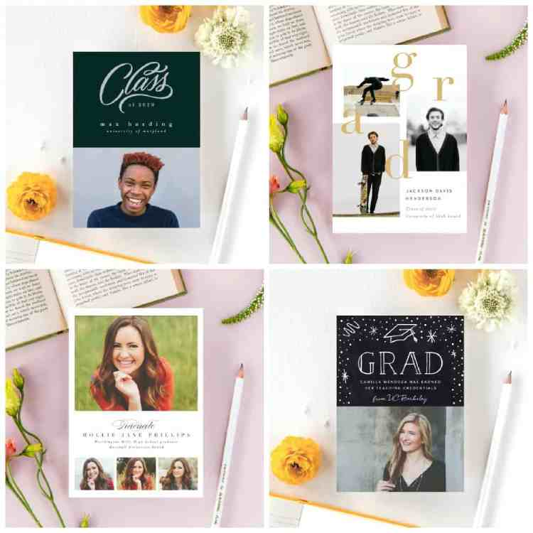 Samples of 2020 Graduation Announcements