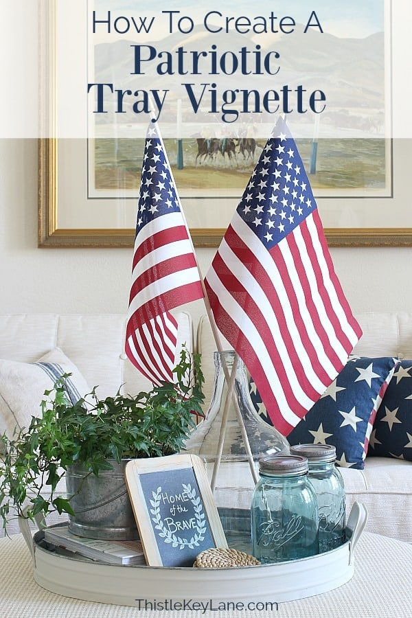 Create A Simple Patriotic Tray Vignette