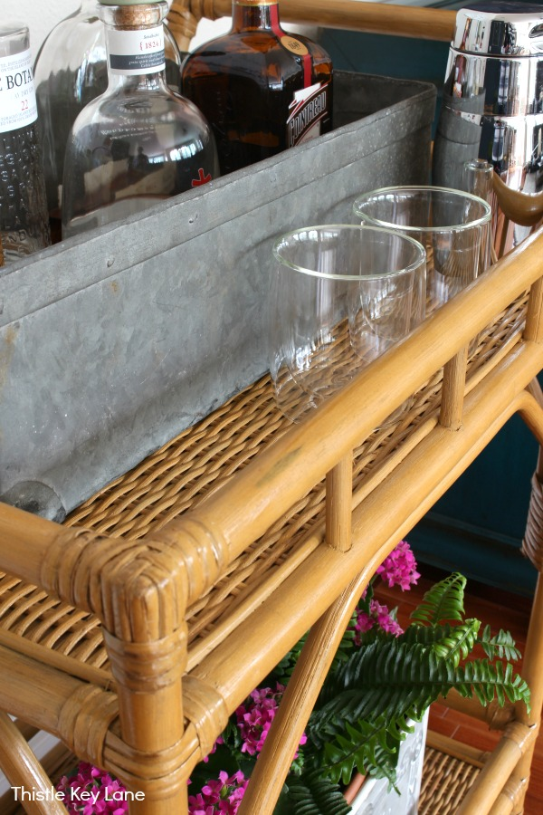 Styling A Bar Cart Three Ways - mini bar.