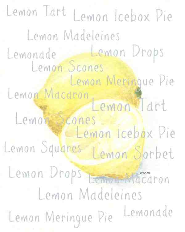 Lemon Watercolor With Lemon Inspired Desserts