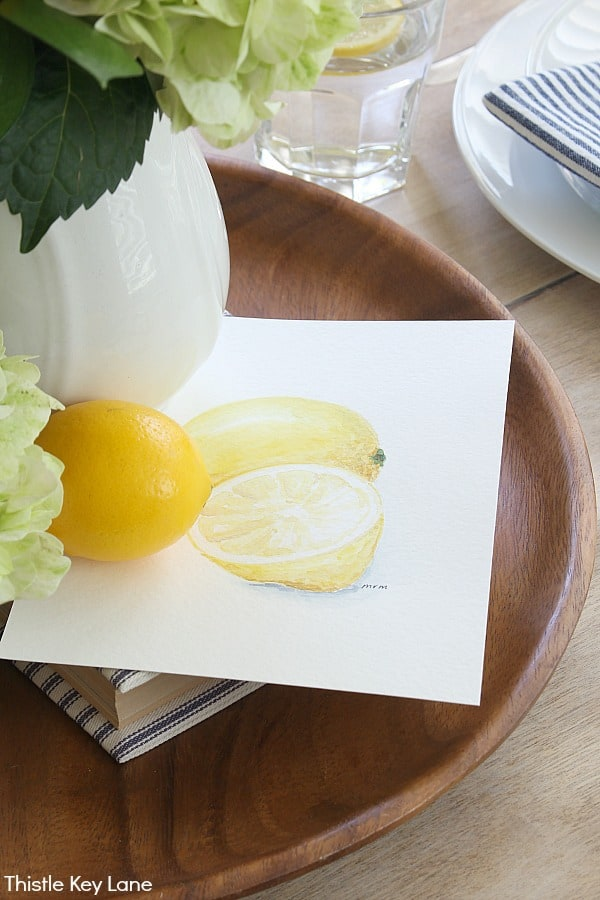Lemon botanical watercolor.