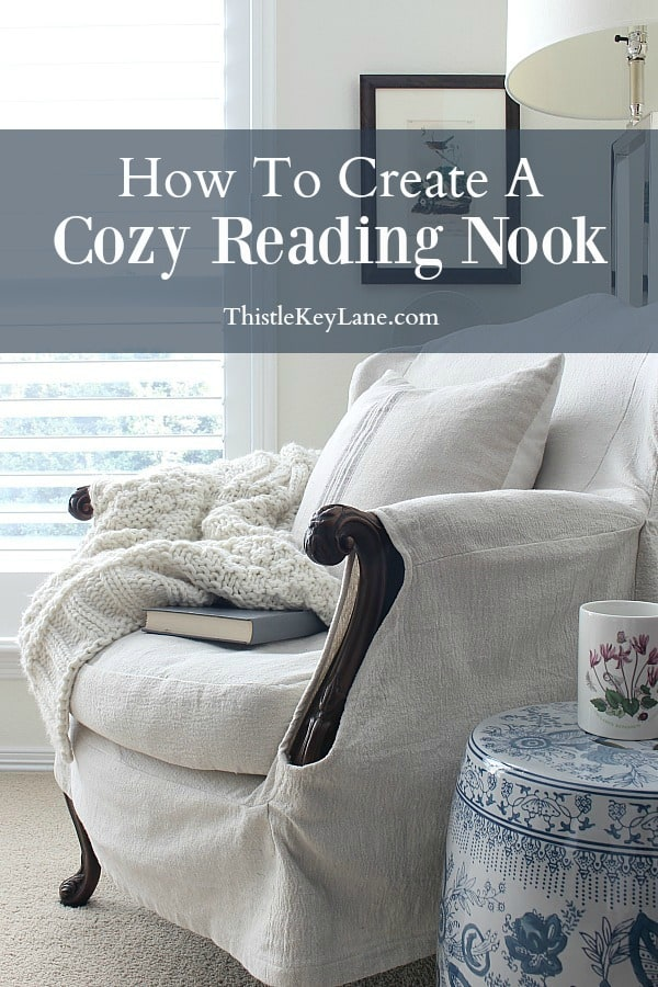 Creating a cozy reading nook.