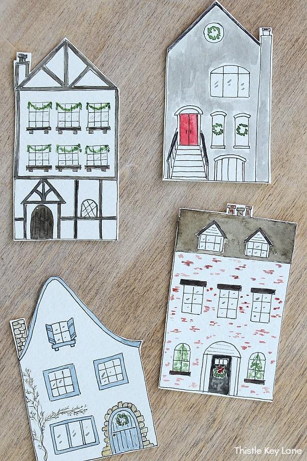 Village house cutouts.
