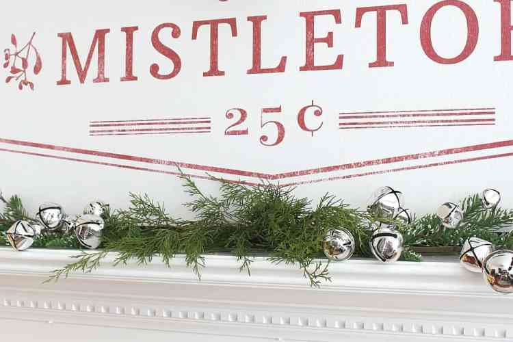 Cozy Christmas Mantel In Red And White