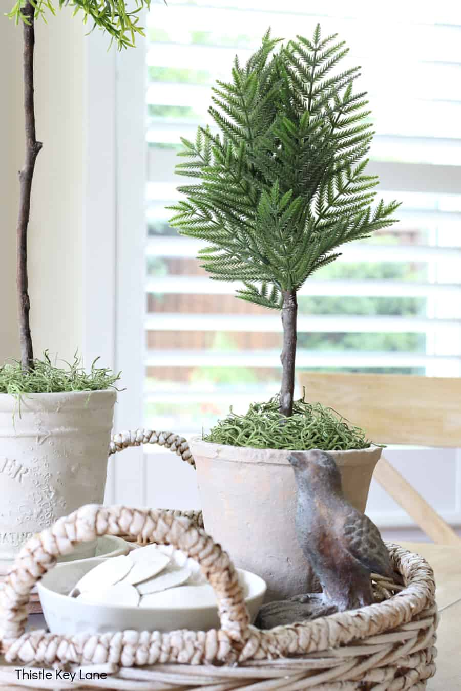 Faux cedar topiary. How To Create A Faux Topiary.