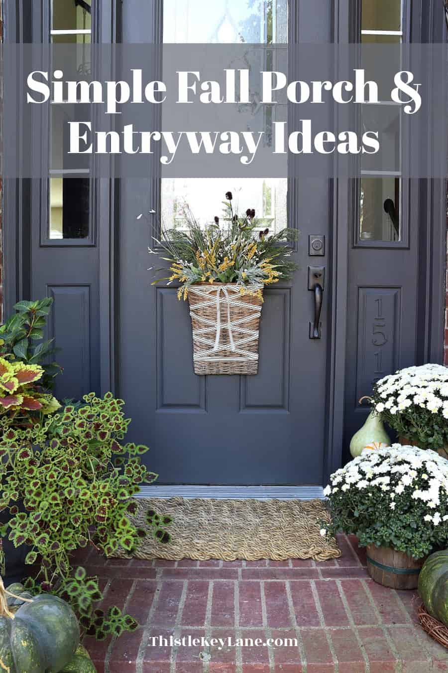 Simple Fall Porch And Entryway Ideas
